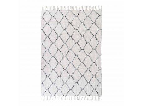 House Nordic Teppich GOA 120x180 cm grau weiß gemustert Baumwolle  Nr. 3981032