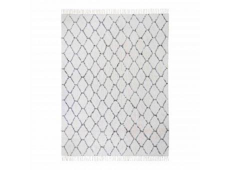 House Nordic Teppich GOA 180x240 cm grau weiß gemustert Baumwolle  Nr. 3981033