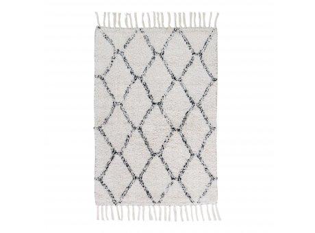 House Nordic Teppich GOA 60x90 cm grau weiß gemustert Baumwolle  Nr. 3981030