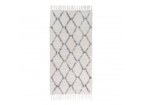 House Nordic Teppich GOA 65x135 cm grau weiß gemustert Baumwolle  Nr. 3981031