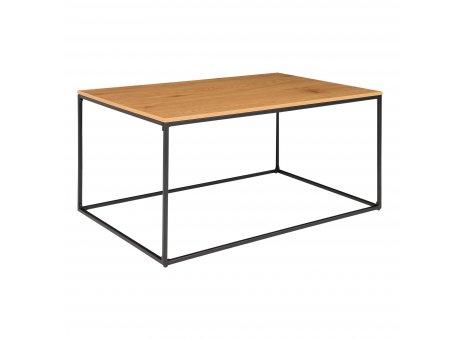 House Nordic Tisch VITA Braun rechteckig Metall Holz Couchtisch Beistelltisch Nr. 2101500