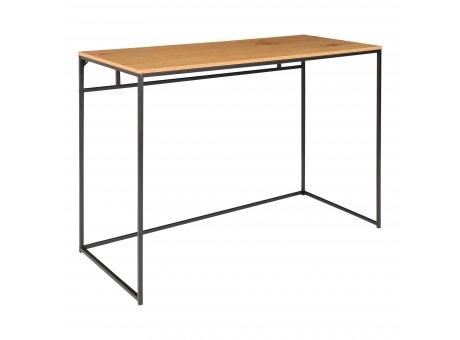 House Nordic Tisch VITA Braun Schreibtisch Ablagetisch 100x45cm schmal Metall Nr. 2402055