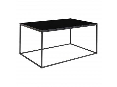 House Nordic Tisch VITA Schwarz rechteckig Metall Holz Couchtisch Beistelltisch Nr. 2101455