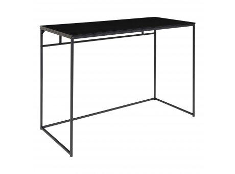 House Nordic Tisch VITA Schwarz Schreibtisch Ablagetisch 100x45cm schmal Metall Nr. 2402050