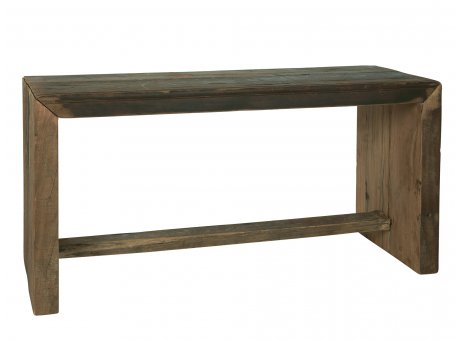 IB Laursen Bank Unika aus Holz stabile Sitzbank Unikat Möbel Stück schwer 33x90 cm