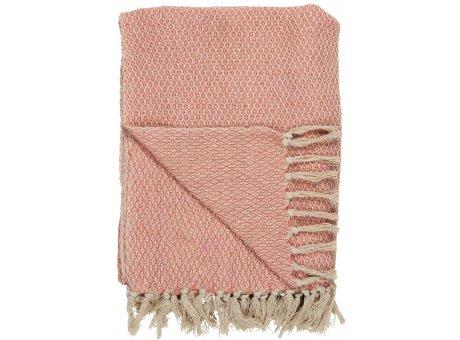 IB Laursen Decke Karo Muster Creme Coral Sands 130x160 Baumwolle Ib Laursen Plaid Nr 6514-27