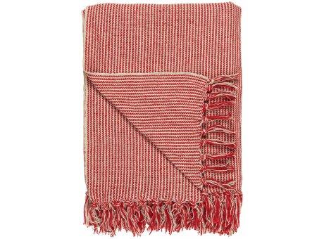 IB Laursen Decke Streifen Muster Creme Rot 130x160 Baumwolle Ib Laursen Plaid Nr 6516-33