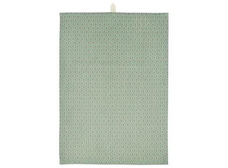 IB Laursen Geschirrtuch Staubig Grün mit Muster in Berry und Natur Farben IB Laursen Geschirrhandtuch Nr 66028-81