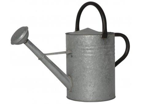 IB Laursen Gießkanne Zink Grau 11 Liter mit 2 Griffen Schwarz Ib Laursen Garten Deko Nr 4235-18