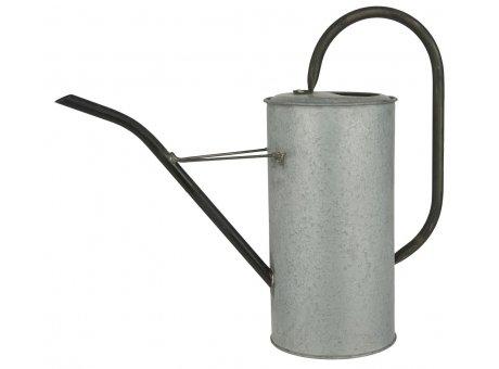 IB Laursen Gießkanne Zink Grau 2,7 Liter mit Griff aus Metall Schwarz Ib Laursen Garten Deko Nr 4238-18