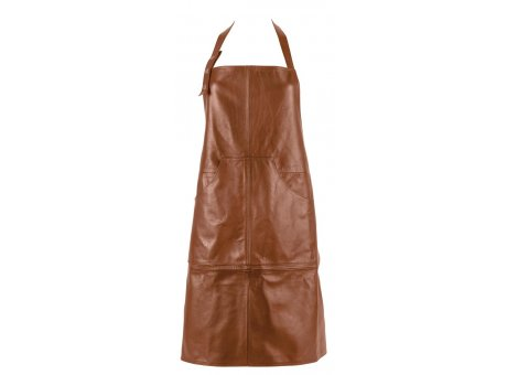 IB Laursen Grillschürze braun BBQ Küchenschürze aus Leder zum Grillen