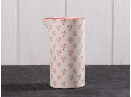 IB Laursen Herz Kanne klein aus Heart Keramik Kollektion Milchkännchen