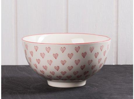 IB Laursen Herz Schale groß aus Heart Keramik Kollektion Müslischale