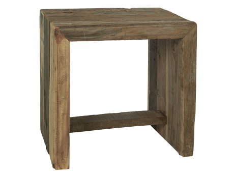 IB Laursen Hocker Unika aus Holz stabiler Sitzhocker Unikat schwer 35x45 cm