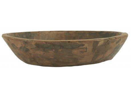 IB Laursen Holztrog Unika rund Tablett Schale aus Holz Unikat Durchmesser 40 cm groß