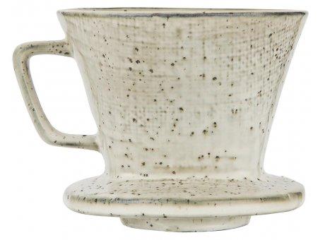 IB Laursen Kaffeefilter Dunes Sand Keramik Geschirr Kaffeetrichter Beige IB Produkt Nummer 2439-35