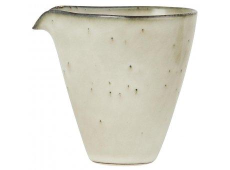 IB Laursen Kanne mit Tülle Mini DUNES Sand Beige Keramik Sahnekännchen IB Geschirr Produkt Nummer 2453-35