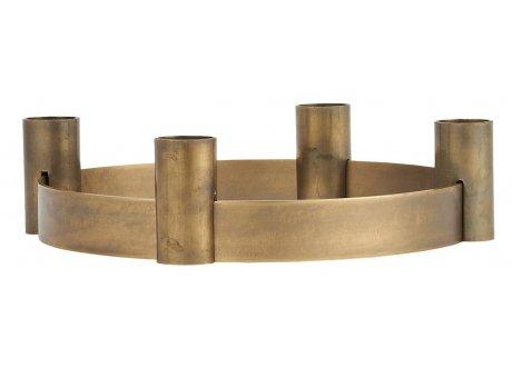 IB Laursen Kerzenhalter ADVENT Gold verschiebbare Halter für 4 Kerzen 19 cm IB Laursen Stillenat Weihnachtsdeko Nr 9097-17