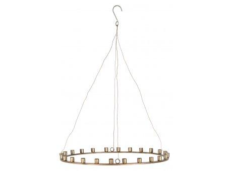 IB Laursen Kerzenhalter Gold zum Hängen für 24 Kerzen 39 cm IB Laursen Stillenat Weihnachtsdeko Nr 57134-17