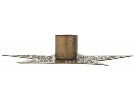 IB Laursen Kerzenhalter Stern Gold 13 cm IB Laursen Stillenat Weihnachtsdeko Nr 0855-17