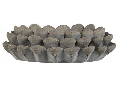 IB Laursen Kerzenhalter Zapfen für 1 Stumpenkerze aus Beton 8 cm IB Laursen Stillenat Weihnachtsdeko Nr 92089-18