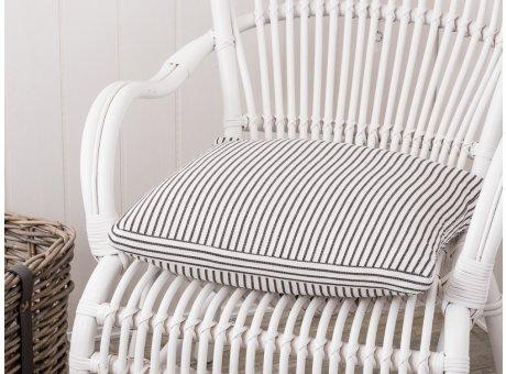 IB Laursen Kissen creme Sitzkissenbezug Streifen schwarz weiß Stuhlkissen