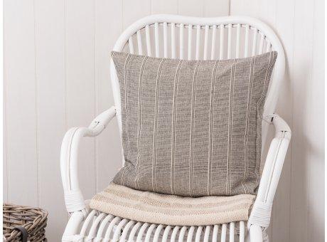 IB Laursen Kissen grau creme gestreift Kissenbezug mit Streifen aus Baumwolle 50 x 50 cm