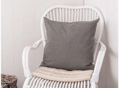 IB Laursen Kissen grau einfarbig Kissenbezug aus Baumwolle 50 x 50 cm
