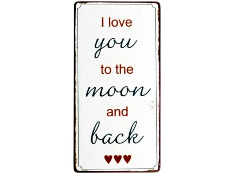 IB Laursen Magnet I Love you to the moon and back Deko Metallschild