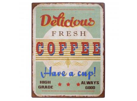 IB Laursen Metallschild delicious fresh coffee have a cup