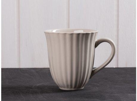IB Laursen Mynte Becher mit Rillen beige Latte Tasse