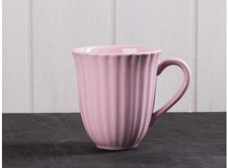 IB Laursen Mynte Becher mit Rillen pastell rosa English Rose Tasse