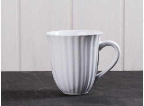 IB Laursen Mynte Becher mit Rillen weiß Pure White Tasse