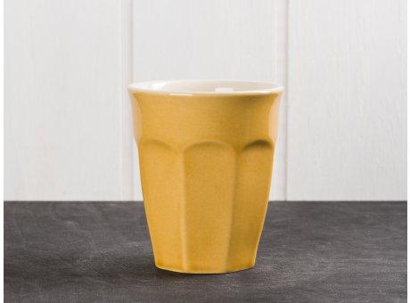 IB Laursen Mynte Cafe Latte Becher Gelb Senfgelb Keramik Geschirr Serie Mustard 250 ml