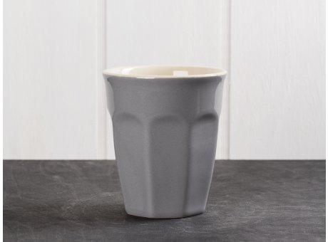 IB Laursen Mynte Cafe Latte Becher Granit Grau Keramik Geschirr Serie Granite 250 ml