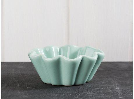 IB Laursen Mynte Geschirr Green Tea Muffinschale hellgrün Backform aus Keramik grün