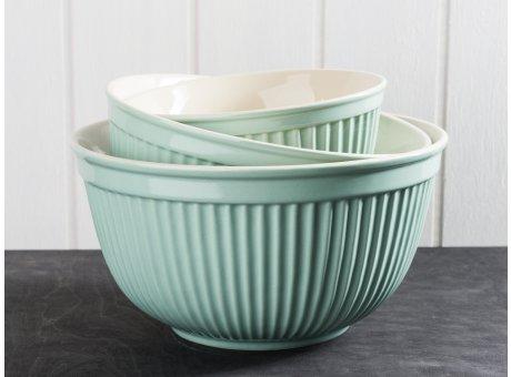 IB Laursen Mynte Geschirr Green Tea Schalensatz hellgrün 3er Set Schüsseln aus Keramik grün Schalen groß