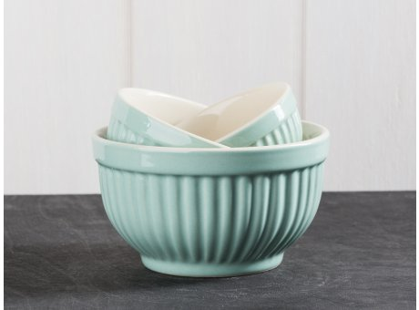 IB Laursen Mynte Geschirr Green Tea Schalensatz Mini hellgrün 3er Set Schüsseln aus Keramik grün