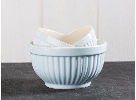 IB Laursen Mynte Geschirr Stillwater Schalensatz Mini hellblau 3er Set Schüsseln aus Keramik blau
