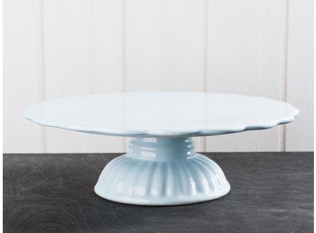 IB Laursen Mynte Geschirr Stillwater Tortenplatte hellblau Servierplatte aus Keramik blau