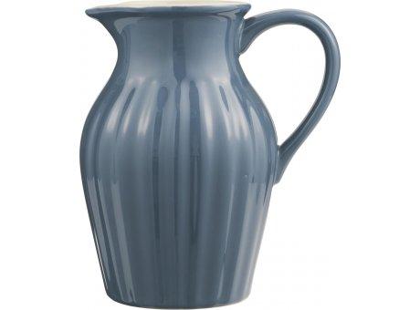 IB Laursen Mynte Kanne Cornflower Blau Keramik Geschirr Krug Dunkelgrau Karaffe 1,7 Liter IB Produkt Nr 2077-09