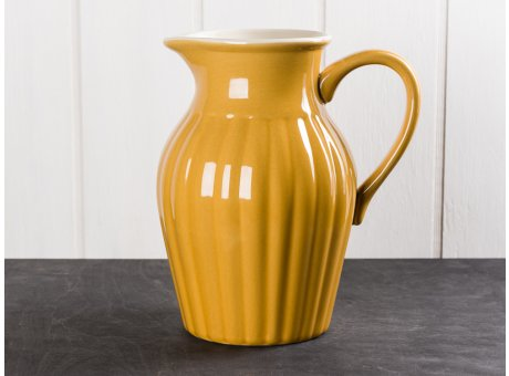 IB Laursen Mynte Kanne Gelb Senfgelb Keramik Geschirr Serie Mustard Karaffe 1,7 Liter