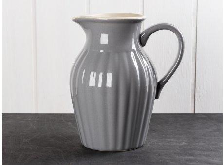 IB Laursen Mynte Kanne Granit Grau Keramik Geschirr Serie Granite Karaffe 1,7 Liter
