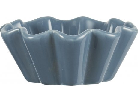 IB Laursen Mynte Muffinschale Cornflower Blau Keramik Geschirr Muffin Backform dunkelblau IB Produkt Nr 2086-09