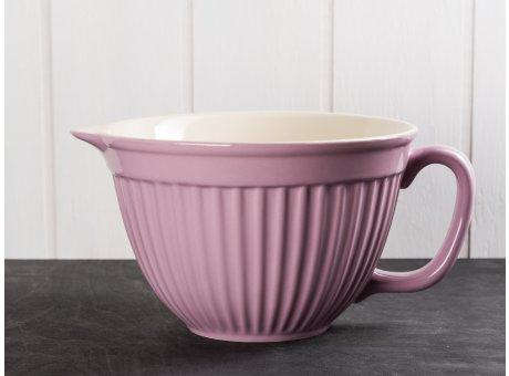 IB Laursen Mynte Rührschüssel Lavendel Lila mit Henkel und Ausgiesser Keramik Geschirr Serie Lavender