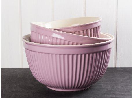 IB Laursen Mynte Schalensatz Lavendel Lila 3 tlg groß Keramik Geschirr Serie Lavender 3 Schüsseln im Set