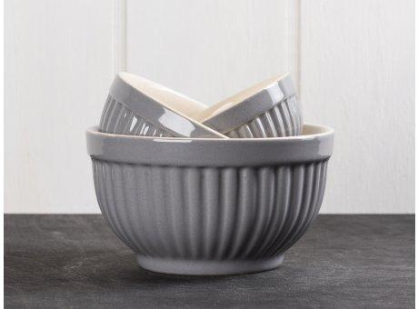 IB Laursen Mynte Schalensatz Mini Granit Grau 3 tlg Keramik Geschirr Serie Granite 3 Schüsseln