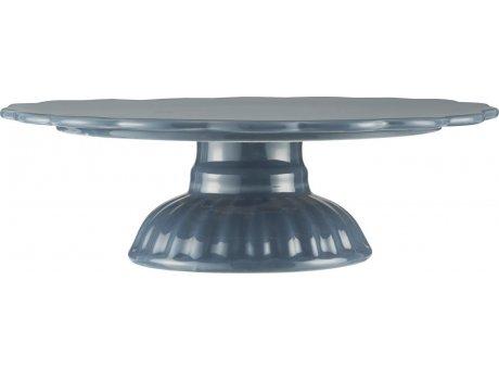 IB Laursen Mynte Tortenplatte Cornflower Blau Keramik Geschirr Servierplatte Dunkelblau IB Produkt Nr 2079-09