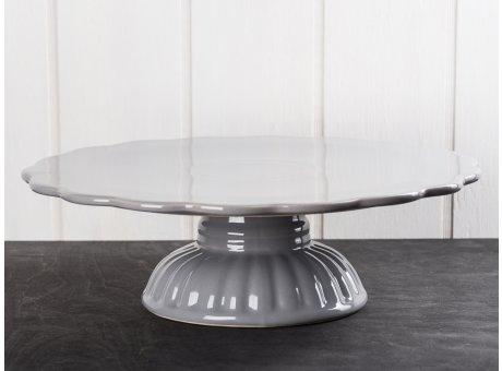 IB Laursen Mynte Tortenplatte Granit Grau Keramik Geschirr Serie Granite Kuchenplatte