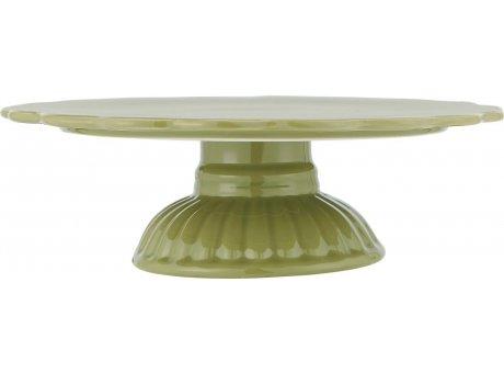 IB Laursen Mynte Tortenplatte Herbal Green Grün Keramik Geschirr Servierplatte Dunkelgrün IB Produkt Nr 2079-73